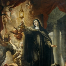 Saint Clare Driving Away the Infidels with the Eucharist
