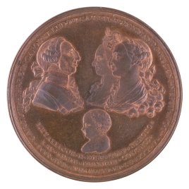 El cuerpo de la Minería de Nueva España en testimonio de reconocimiento a Carlos III por su creación y por el nacimiento del Infante Don Fernando
