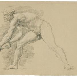 Estudio de desnudo masculino barbado