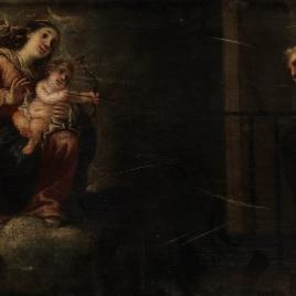La Virgen y el Niño transverberando el corazón a San Agustín