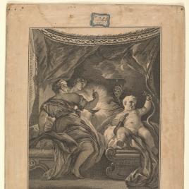 Hércules en la cuna sofocando las serpientes que le envió Juno para que le matasen