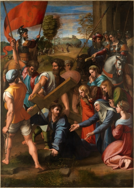 Christ falls on the Way to Calvary