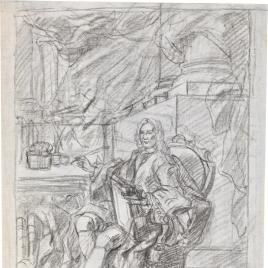 Estudio de retrato de caballero escritor o jurista