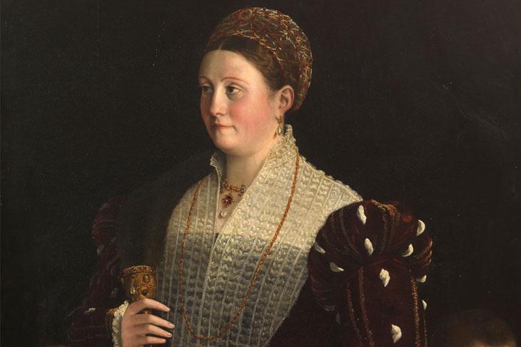 Camilla Gonzaga, condesa de San Segundo, y sus hijos, de Parmigianino