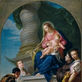 La Virgen con el Niño Jesús y varios santos