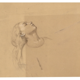 Estudio de una cabeza femenina dormida