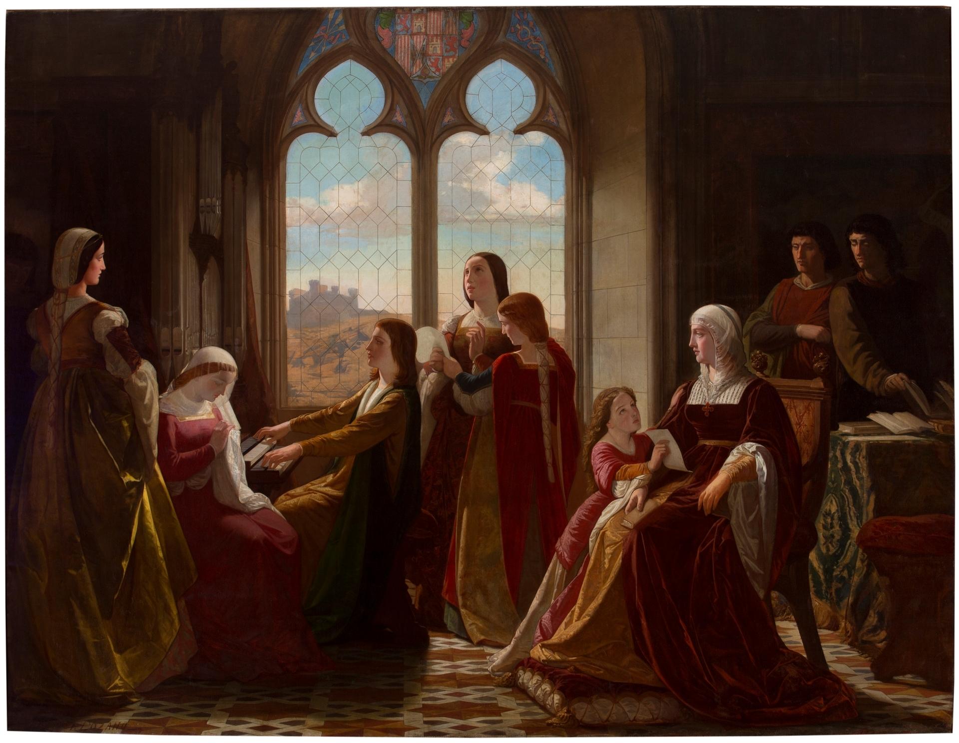 Isabel Hijos CatólicaPresidiendo Sus La Educación De Reina clK13FTJ