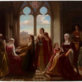 La reina Isabel la Católica, presidiendo la educación de sus hijos