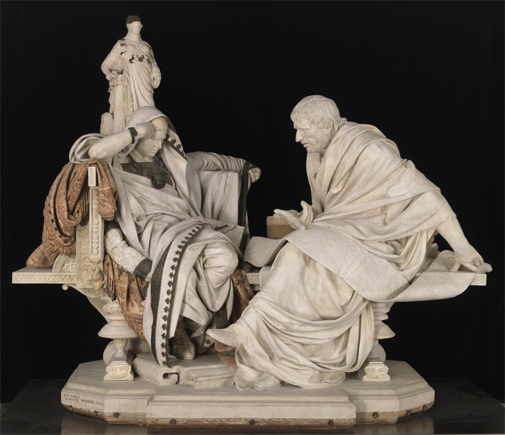 The Restoration of Nero and Seneca by Eduardo Barrón - Museo Nacional del  Prado