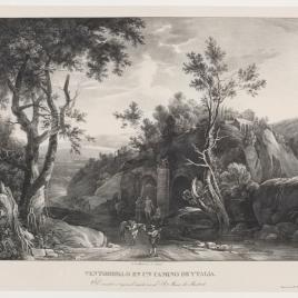 Paisaje con ventorrillo y acueducto romano