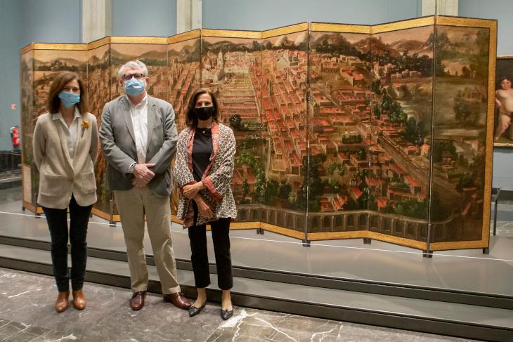El Museo Nacional del Prado expone Biombo de la Conquista de México y La muy noble y leal ciudad de México