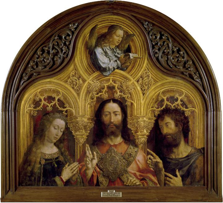Cristo entre la Virgen María y San Juan Bautista, de Jan Gossaert