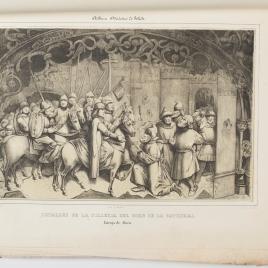 Entrega de Alora, detalle de la sillería del coro de la Catedral de Toledo