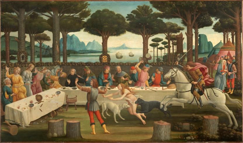 Escenas de La historia de Nastagio degli Onesti