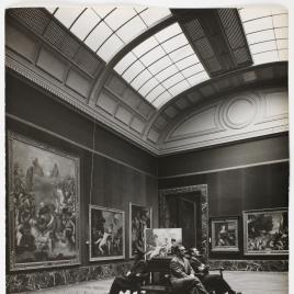 Museo del Prado, vista de una sala con obras de Tiziano