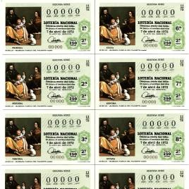 Capilla de billete de Lotería Nacional para el sorteo de 7 de abril de 1972