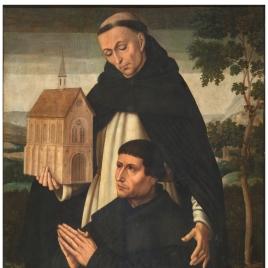 Santo Tomás y un donante