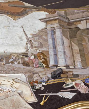 Noticias sobre ocho mesas del Real Laboratorio de Piedras Duras en el Museo del Prado