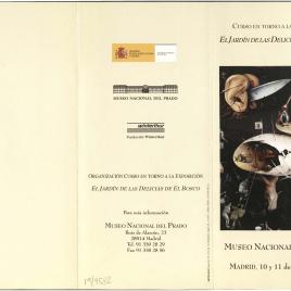 El Jardín de las Delicias de El Bosco : curso en torno a la exposición / Museo Nacional del Prado.