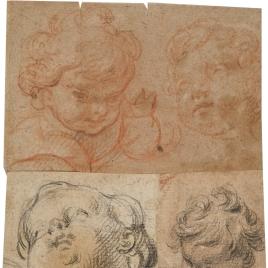 Cuatro cabezas de niño