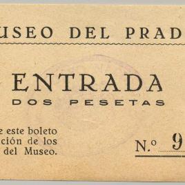 Billete de entrada al Museo del Prado entre 1928 y 1933