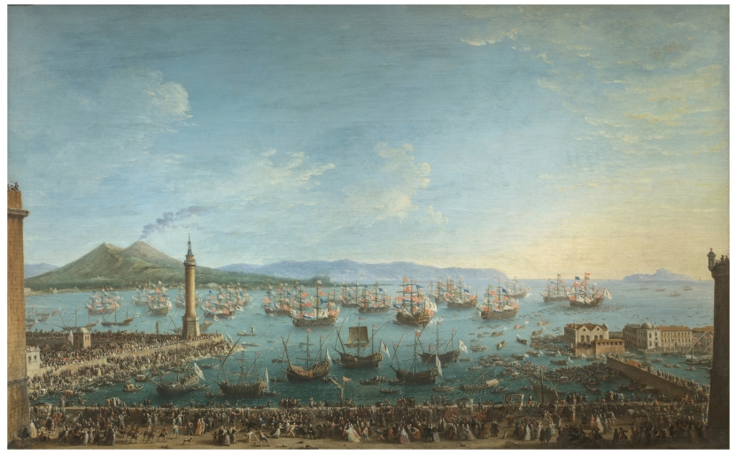 Departure of Charles of Bourbon for Spain, seen from the Harbour