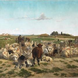 Un redil de ovejas extramuros de la puerta de Bilbao de Madrid