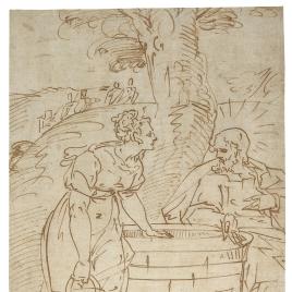 Cristo y la samaritana junto al pozo