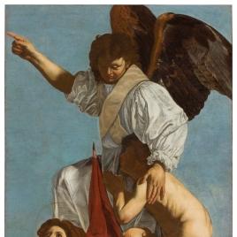 Ángel custodio con santa Úrsula y santo Tomás