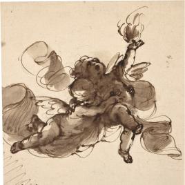 Dos angelitos volando