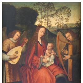 La Virgen y el Niño con ángeles músicos