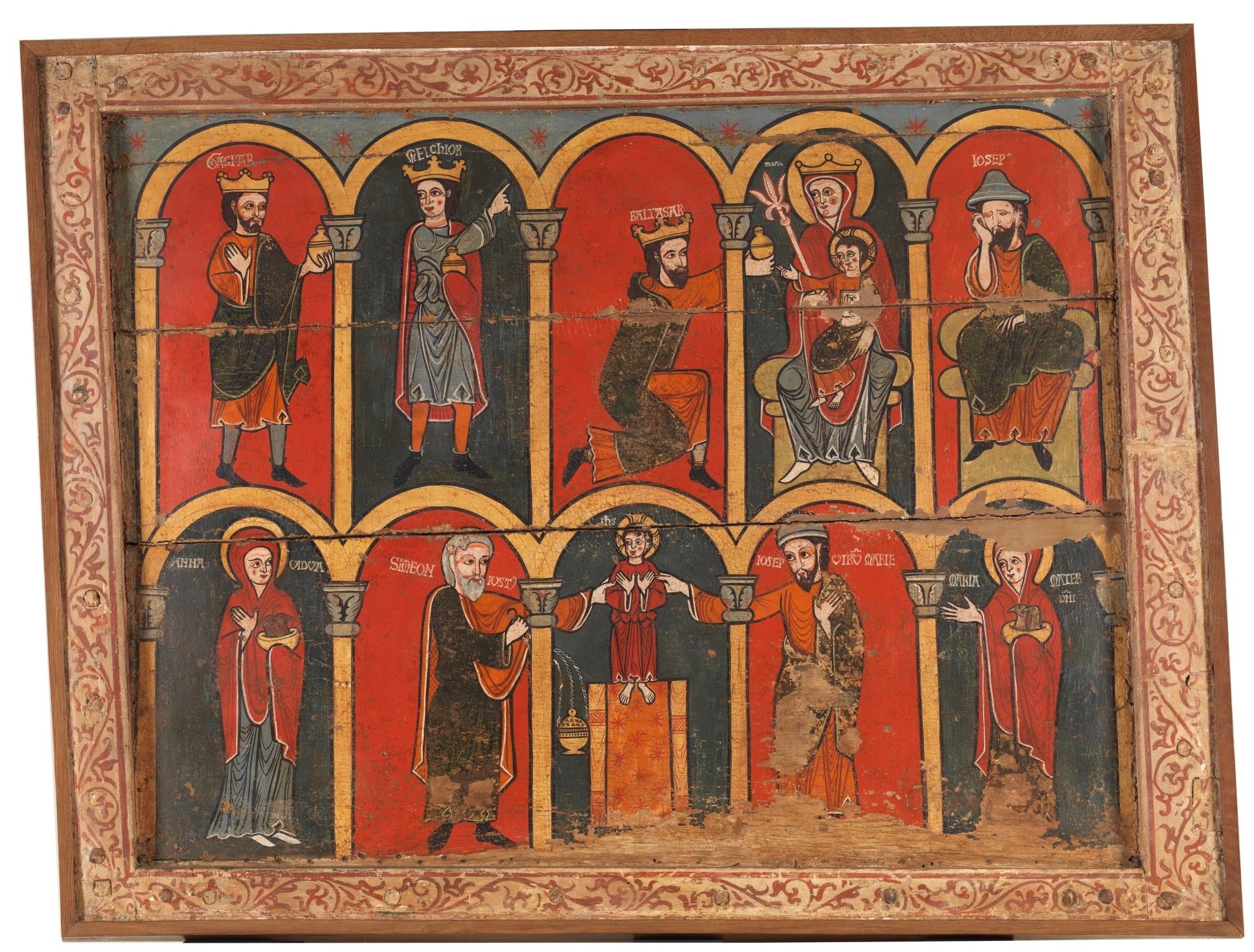 Resultado de imagen de frontal con escenas de la infancia de jesus