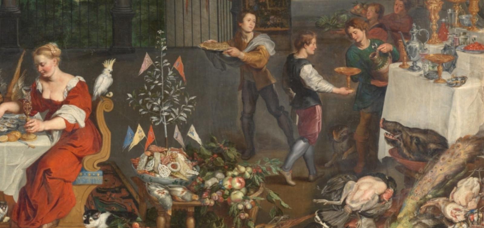 De admirable hechura. Esculturas de azúcar y lino en los banquetes reales