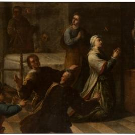 Milagro de doña María de Peñuela (¿?). Serie de  la vida de San Diego de Alcalá