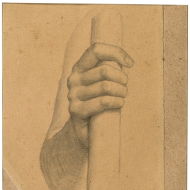 Estudio de brazo derecho (Mater Salvatoris. Capilla de las Letanías de la Iglesia de Notre Dame de Lorette, París).