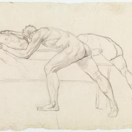 Estudio de desnudo masculino para la figura que llora sobre el cuerpo de Viriato