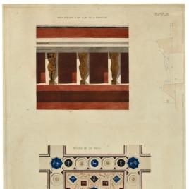 Detalles decorativos de uno baños públicos en Pompeya