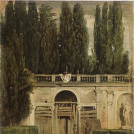 View of the Gardens of the Villa Medici, Rome