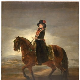 Queen Maria Luisa on Horseback