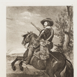 Gaspar de Guzmán, conde-duque de olivares a caballo