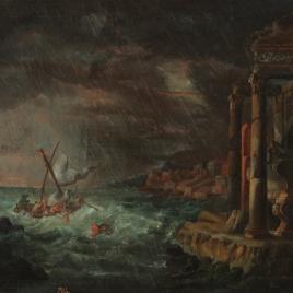 Marina con naufragio
