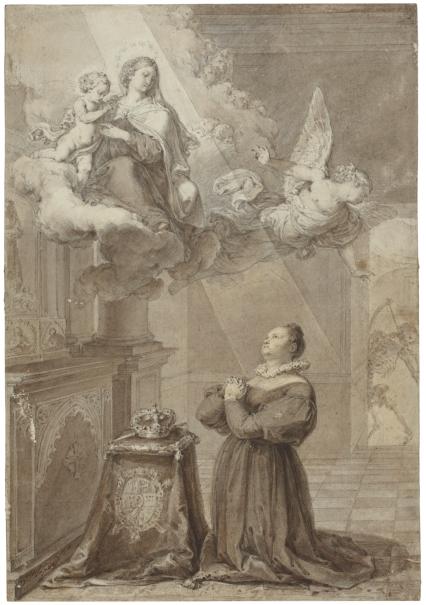 El milagro (La reina María Cristina de Borbón encomienda a la Virgen del Carmen la salud de Fernando VII)
