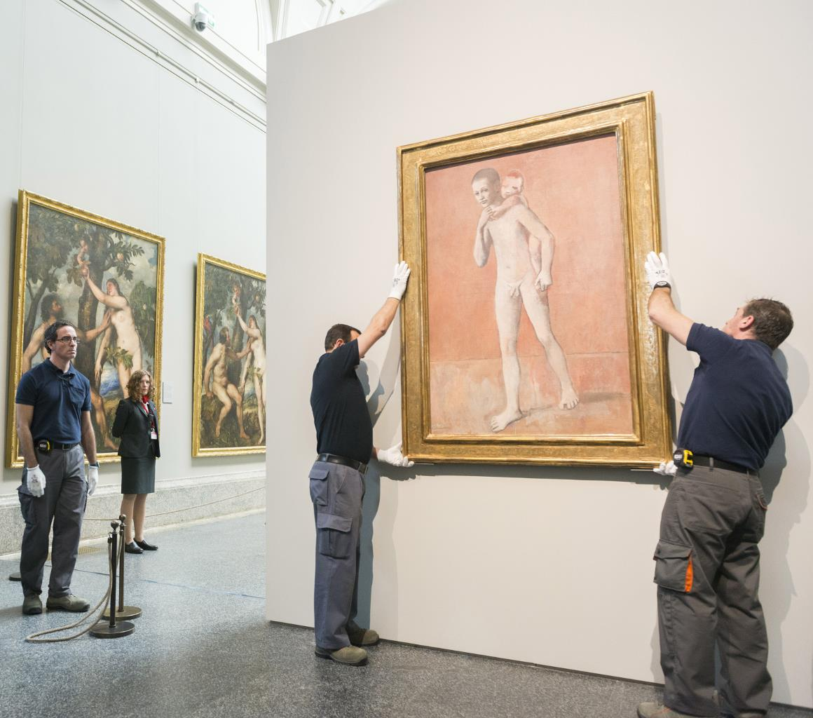 El Prado inicia el montaje de su exposición de obras de Picasso procedentes del Kuntsmuseum Basel