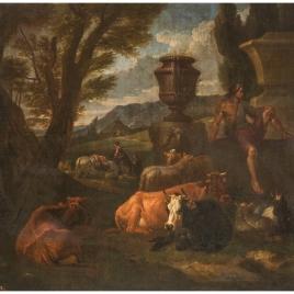 Paisaje romano (el Campo Vacino de Roma)