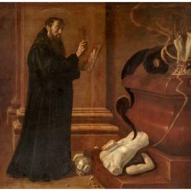 San Benito destruyendo los ídolos