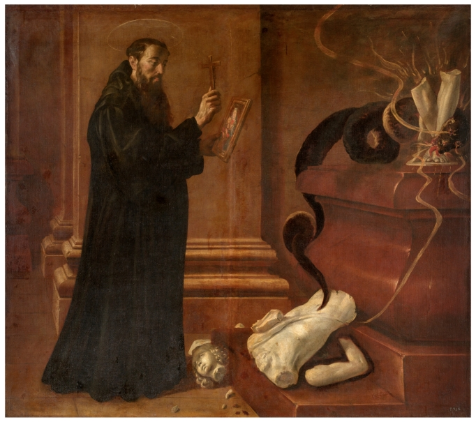 Saint Benedict destroying Idols