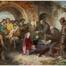 Entierro del condestable don Álvaro de Luna (boceto)