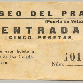 Billete de entrada al Museo del Prado [1955]