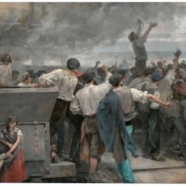 Una huelga de obreros en Vizcaya