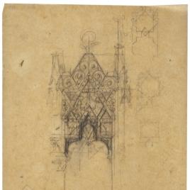 Calco del tabernáculo para el altar de la Catedral de Oviedo